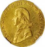 GERMANY. Prussia. 2 Frederick dOr, 1814-A. Berlin Mint. Friedrich Wilhelm III. NGC MS-62.