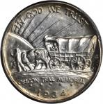 1934-D Oregon Trail Memorial. Tripled Die Obverse. MS-65 (PCGS).