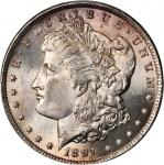 1891-CC Morgan Silver Dollar. VAM-3. Top 100 Variety. Spitting Eagle. MS-64 (PCGS). CAC.