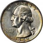 1942 Washington Quarter. MS-67+ (PCGS).