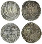 Henry VIII (1509-47), third coinage, Groats (2), both York, 2.57g, m.m. none, henric 8 d g agl fra z