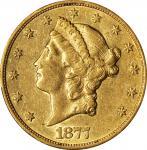 1877-CC Liberty Head Double Eagle. EF-45 (PCGS).