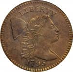 1795 Liberty Cap Cent. S-78. Rarity-1. Plain Edge. MS-64 BN (PCGS).