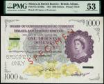 Board of Commissioners of Currency Malaya and British Borneo, archival specimen $1,000, 21 March 195