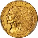 1927 Indian Quarter Eagle. MS-64 (PCGS).