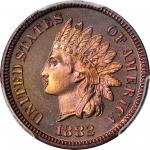 1882 Indian Cent. Proof-66 RB (PCGS). CAC.