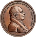 1825 John Quincy Adams Indian Peace Medal. Bronze. Third Size. First Reverse. Julian IP-13, Prucha-4