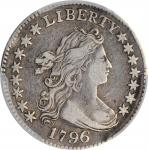 1796 Draped Bust Dime. JR-4. Rarity-4. VF-35 (PCGS). CAC.