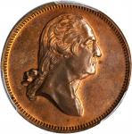 1799 (ca. 1862) George Hampden Lovetts Series Medal. Second Obverse / Born, Died Reverse. Copper. 29