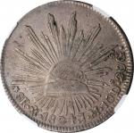 MEXICO. 8 Reales, 1824-Mo JM. Mexico City Mint. NGC VF Details--Surface Hairlines.