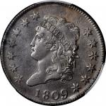 1809 Classic Head Cent. S-280, the only known dies. Rarity-2. AU-55 (PCGS).