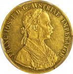 AUSTRIA. 4 Ducat, 1891. PCGS AU-58 Gold Shield.