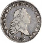 1795 Flowing Hair Half Dollar. O-121a, Taraszka-2. Rarity-6. Y/Star, Two Leaves. VF-30 (PCGS).