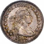 1796 Draped Bust Quarter. B-2. Rarity-3. AU-53 (PCGS).