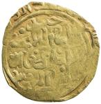 GREAT MONGOLS: Anonymous, ca. 1220s to early 1230s, AV dinar (4.50g), Jand, AH[6]2x, A-A1967, in the