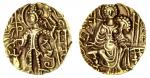 x Later Kushan, Kipunadha (c.335-50), gold Dinar, 7.72g, nimbate king standing left, sacrificing at