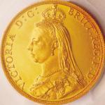 英国 (Great Britain) ヴィクトリア女王像 ジュビリーヘッド 2ポンド金貨 1887年 KM768 / Victoria Jubilee Head 2 Pounds Gold Proof