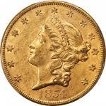 1854自由帽双鹰金币 PCGS AU 58