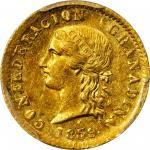 COLOMBIA. 1859 2 Pesos. Popayán mint. Restrepo 231.1. MS-61 (PCGS).