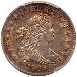 1805 Draped Bust Dime. 4 berries. PCGS MS63