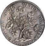 ITALY. Tuscany. Livorno. Mint Error -- Minor Clipped Planchet -- Pezza Della Rosa, 1718. Cosimo III