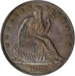 1882 Liberty Seated Half Dollar. WB-102. Misplaced Date. Proof-63 (PCGS). OGH.