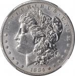1884-S Morgan Silver Dollar. Unc Details--Cleaned (NGC).