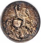 RUSSIA. Mikhailovich Silver Medal, 1894. Alexander III. PCGS SPECIMEN-62 Gold Shield.