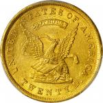 1853 United States Assay Office of Gold $20. K-18. Rarity-2. 900 THOUS. MS-63+ (PCGS). CAC. Gold Shi