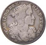 Italian coins;NAPOLI Carlo II (1665-1680) Tarì 1691 - Magliocca 22 AG (g 3.86) - MB/qBB;20