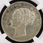 INDIA British India イギリス领インド Rupee 1840(b)  NGC-AU Details Surface Hairlines  洗浄 EF