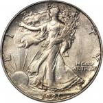 1921-D Walking Liberty Half Dollar. MS-64 (PCGS). CAC.