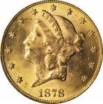 1878 Liberty Head Double Eagle. MS-63 (PCGS).