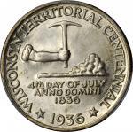 1936 Wisconsin Territorial Centennial. MS-64 (PCGS).
