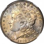 1904-S Morgan Silver Dollar. MS-64+ (NGC). CAC.