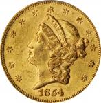 1854 Liberty Head Double Eagle. Small Date. AU-53 (PCGS). CAC.