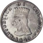 COLOMBIA. 8 Reales, 1820-JF. Bogota Mint. PCGS Genuine.