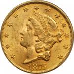 1875 Liberty Head Double Eagle. MS-62 (PCGS).