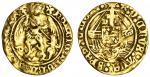 Henry VII (1485-1509), Half-Angel, class IIIC/B mule, 2.39g, mm. pansy, henric?di?gra?rex agl?z[ ],