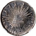 1854 MO GC墨西哥8鹰洋银币,NGC MS63+