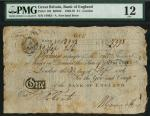 Bank of England, A. Newland, £1, London 30 September 1806, manuscript serial number 18993, black and