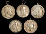 GERMANY. Silver Shooting Medals (5 Pieces). Grade Range: VERY FINE to EXTREMELY FINE.
