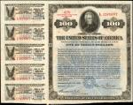 United States of America. Act of September 24, 1917, as amended April 21, 1919. $100 4-3/4% Coupon C