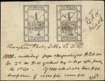 两枚第一版石版印刷黑色样票手稿 极美