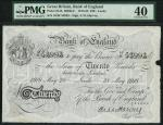 Bank of England, Ernest Musgrave Harvey (1918-1925), 」20, Leeds 28 May 1918, serial number 16/W 5399