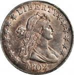1802 Draped Bust Half Dollar. O-101, T-1. Rarity-3. AU-55 (PCGS).