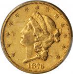 1876-CC Liberty Head Double Eagle. EF-45 (PCGS).
