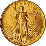 1908-D Saint-Gaudens Double Eagle. No Motto. MS-64 (NGC). CAC.