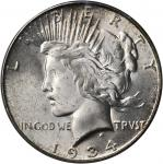 1934-S Peace Silver Dollar. MS-64 (PCGS).