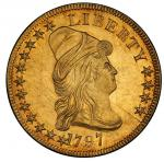 1797 Capped Bust Right Eagle. Bass Dannreuther-1. Rarity-5. Small Eagle. Mint State-61 (PCGS).